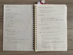 茜のノート